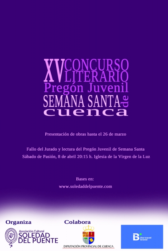 EL CONCURSO LITERARIO DESVELAR� AL NUEVO PREGONERO/A JUVENIL DE LA SEMANA SANTA DE CUENCA